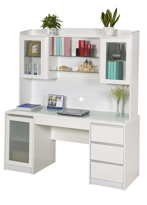 ... White Desk With Hutch - Contemporary White Desk With Hutch Throughout Design