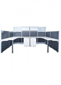 ID-04 2 Person U-Shape Workstation