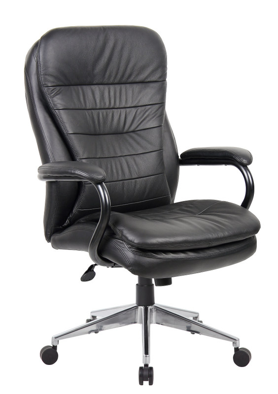 Ys Chairs Titan Leather High Back Chair 200kg Rated