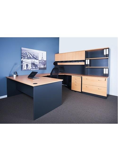 Express Complete Corner Desk Package Ideal Furniture