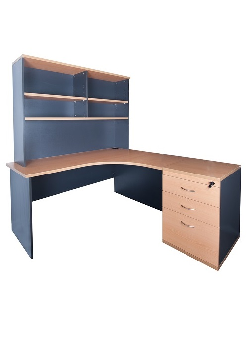express 1600 curved desk and hutch ideal furniture