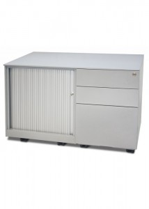 Metal Caddy with Tambour Door
