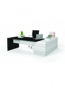 Envoy Executive Desk 2100x900x2100x600L_Maple+White