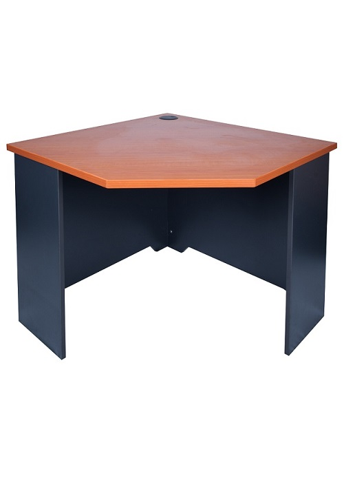 Express free standing corner desk ideal furniture for Standing office desk furniture