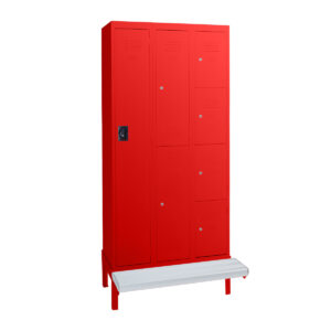 bank-of-statewide-lockers-on-aluminium-stand-signal-red