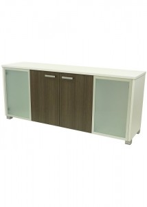 CM Bronte credenza 4 doors with glass