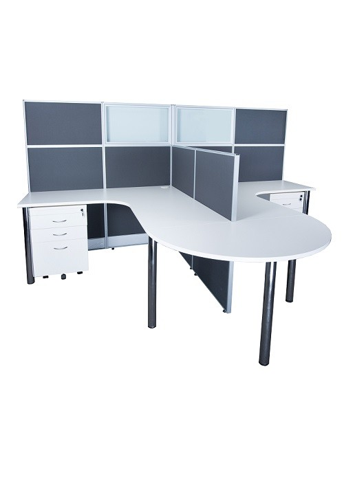 ID-05 2 Person Workstation with Conference End