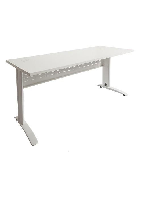 Rapid Span Desk White, White Span Leg RSD187 WW