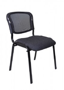 SS mesh back visitor chair