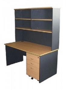 express 1500 desk & hutch package