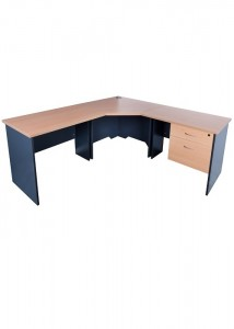 express corner workstation with lockable draws