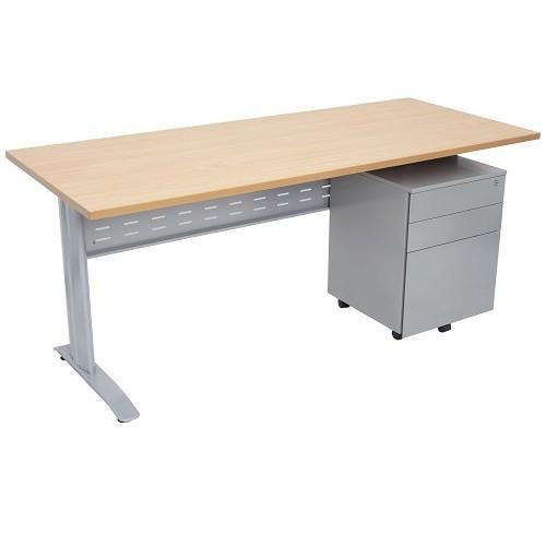 FX WORKER Open Metal Frame Desk