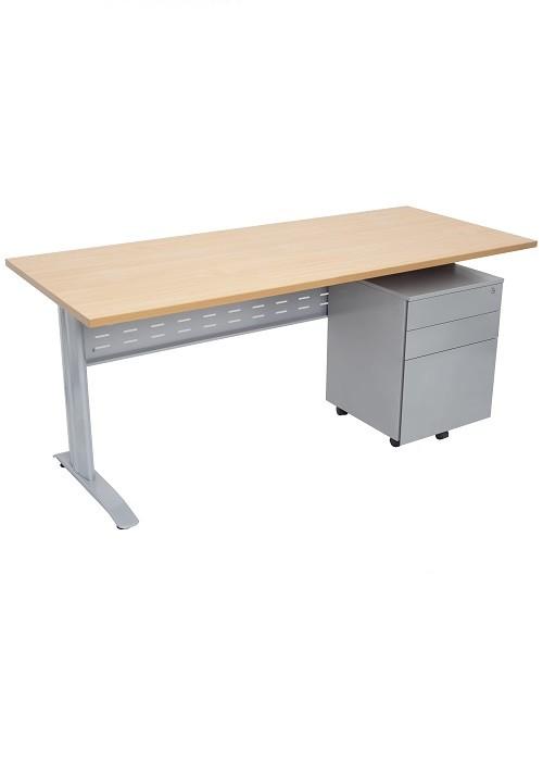FX WORKER Open Metal Frame Desk - Ideal Furniture