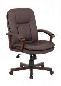 Brown Leather Chair - Ideal Furniture