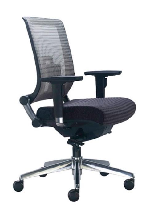 Ys Wall St Medium Back Mesh Chair Ideal Furniture