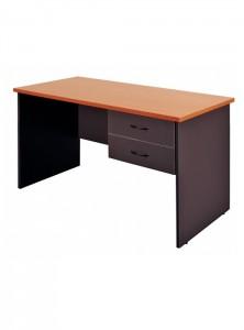 YS Desks DKS126 1200 Open Desk Beech + Draws