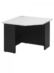 YS Desks CW69 Corner Desk White