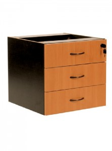 YS Storage D3 3 Box Drawers Fixed Pedestal
