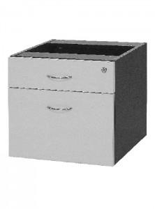 YS Storage DF 1Draw + 1File Fixed Pedestal White