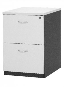 YS Storage FC2 2 Drawer Filing Cabinet White