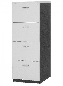 YS Storage FC4 4 Drawer Filing Cabinet White