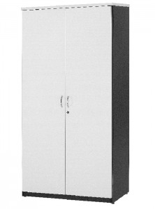 YS Storage FD Full Door Stationary Cabinet White
