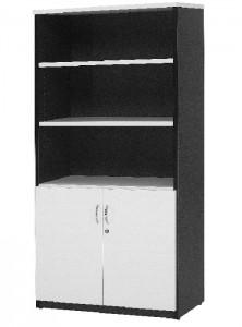 YS Storage HD Half Door Stationary Cabinet White