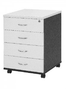 YS Storage MP4 4 Box Drawers Mobile Pedestal