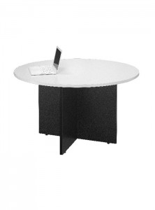 YS Storage MT12 Round Meeting Table White