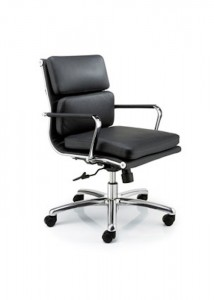 Black Leather Chairs - Ideal Furniture