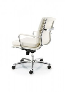 White Leather Chair - Ideal Furniture