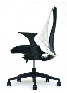 White Frame Office Chair - Ideal Furniture