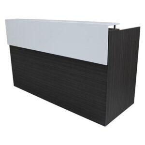 Black Reception Desk - Ideal Furniture
