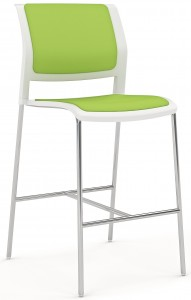 Game Barstool Skid Chrome Lime Green