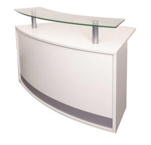 Modular Reception Counter Glass Top Piece