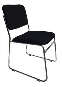 stella ed chair black fabric no arms